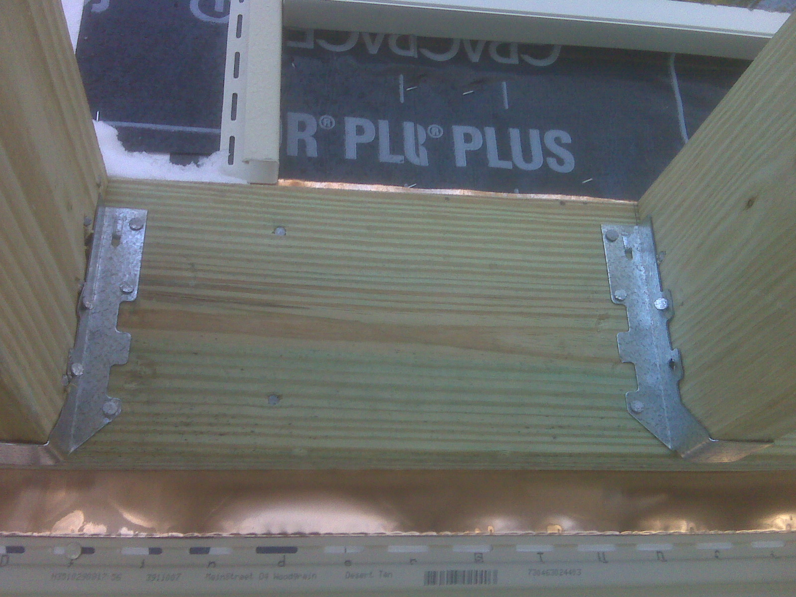 copper deck flashing detail