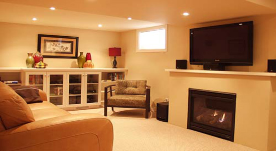 Basement remodeling contractor based in Massachusetts helping customers utilize the valuable space in their basements.